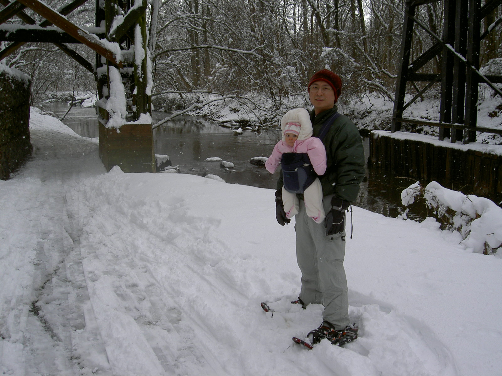 Snowshoeing with Little Chan